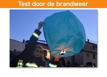 Onze wensballonnen zijn getest door de brandweer met tevredenstellend resultaat