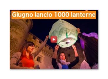 1000 sky lanterns Vasanello