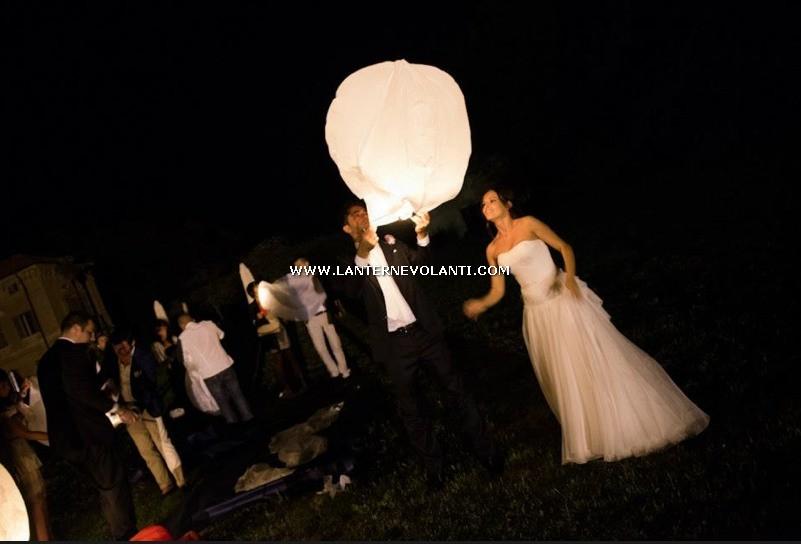 Lanterne Volanti Bianche