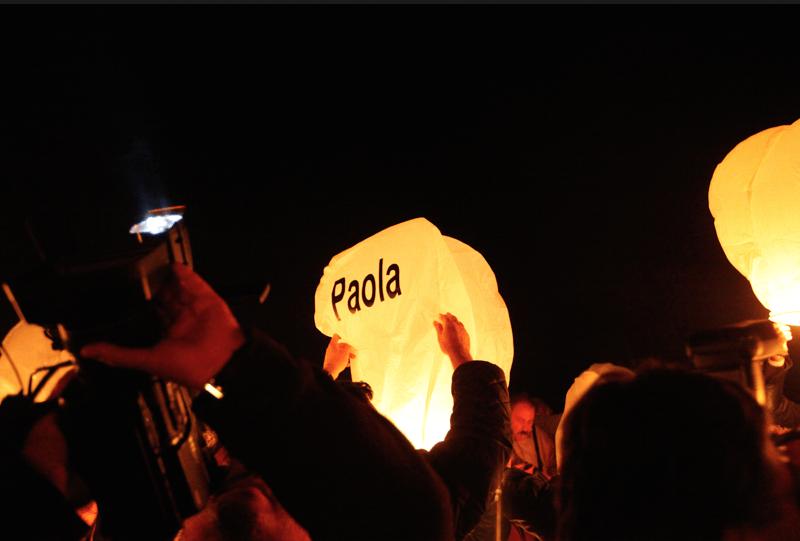 Lanterna con dedica personale
