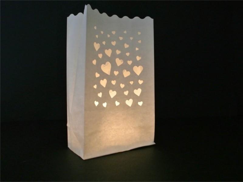 Sacchetti di carta luminosi per il tuo amore con Mille Cuori