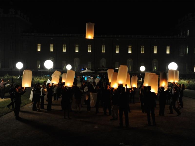 Le lanterne Thai, tubolari: Le nostre lanterne volanti pronto per l'uso, facile da usare, per un anniversario, un matrimonio, una laurea