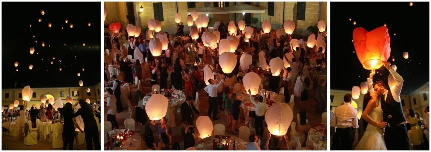 Il vostro matrimonio con le  nostre lanterne volanti luminose!
