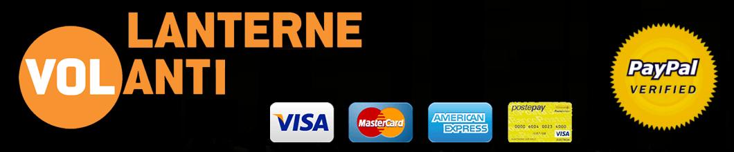 Pagamento contrassegno, bonifico, carta di credito e PayPal