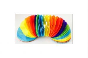 Festone di carta Multi Colori: 2 pezzi di 2,5 m