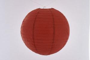 Hanging round rice paper Japanese lantern color red diameter 20 cm