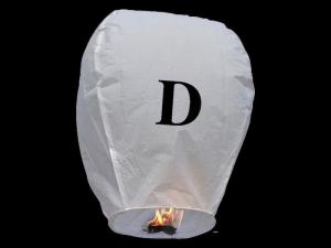 Lanterne volanti certificate e sicure con le lettere, scrivi un messaggio che vola nel cielo, pronto per l'uso, apri accendi e volano: la lanterna volante con la lettera D