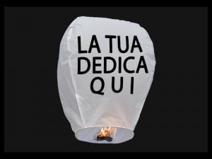La lanterna volante personalizzata con il tuo testo, la tua foto o il tuo logo, per un matrimonio, un anniversario, pubblicità, san Valentino o altra festa, tutti colori, pronto per l'uso, carta ignifuga e biodegradabile e certificata