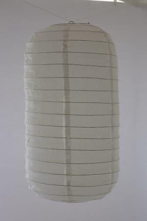 Hanging tubular rice paper Japanese lantern color white