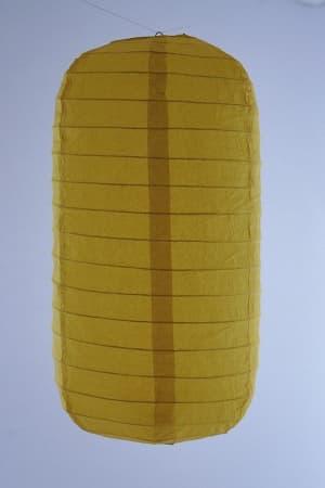 Hanging tubular rice paper Japanese lantern color yellow