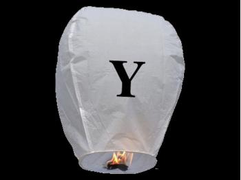 Lanterne volanti certificate e sicure con le lettere, scrivi un messaggio che vola nel cielo, pronto per l'uso, apri accendi e volano: la lanterna volante con la lettera Y