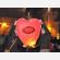 La lanterna volante personalizzata a forma di cuore con la vostra dedica. Stampa full color.