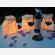 Sacchetti portacandele luminosi potete metter in tavola fuori o al interno, intanto sono ignifughi