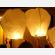 witte wensballonnen in de vorm van een hete luchtballon, klassiek model, perfect voor een bruiloft of willekeurig ander feest, klaar voor gebruik, brandwerend en biologisch afbreekbaar papier