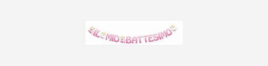 Festone Rosa: Il Mio Battesimo