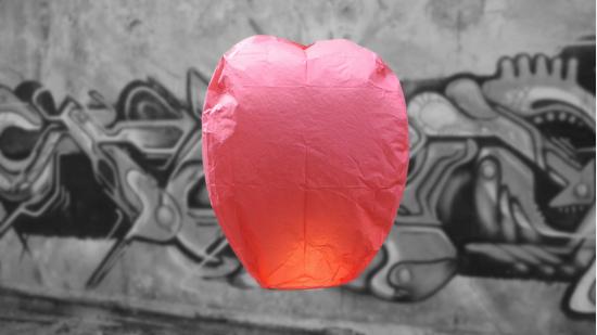 Red professional sky lantern