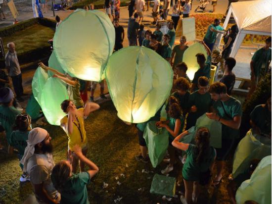 Lanterna Volante Verde