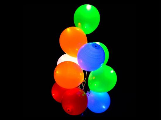 10 Palloncini Luminosi Colorati con luce Led