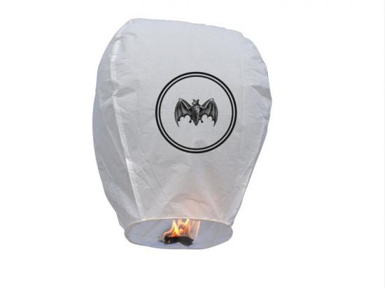 Lanterne volanti luminosi stampati con il loro logo per un evento aziendale