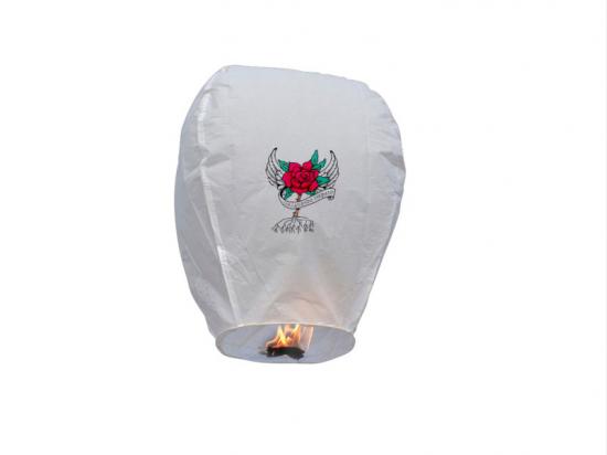 la lanterna volante personalizzata contro la violenza