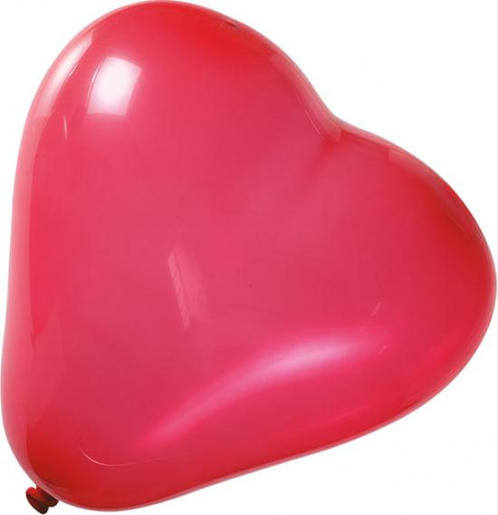 10 Palloncini Luminosi Rossi con luce Led
